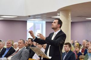 Регент молодёжного хора Стасилевич Павел (08.04.2018)