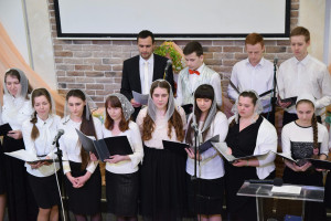 Участие молодёжного хора (08.04.2018)