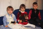 Миссионерские дети Ян, Лилия, Роман (справа налево) (16.10.2013)