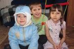 Миссионерские дети Роман,Ян и Лилия (слева направо (14.04.2014)