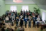 ц. Возрождение (Витебск), слабослышащие славят Бога... (12.04.2014)