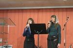 Диана Красковская и Ангелина Говорушко исполняют псалом (19.12.2014)