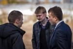 Слева направо: Вайнилович Тимофей, Киклевич Алксандр, Колодько Дмитрий (21.10.2012)